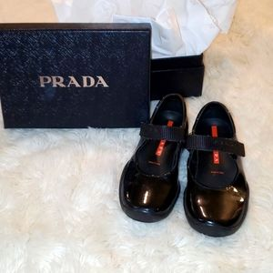 Prada girls mary jane shoes